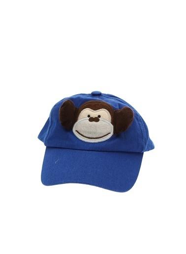 Koton Koton Erkek Bebek Maymunlu Mavi Şapka Mavi